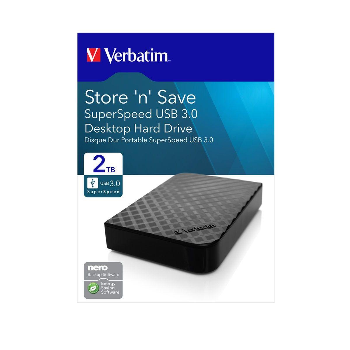 Preisfehler - Verbatim Externe 8,89 cm Festplatte - USB-3.0-Laufwerk, 2000 GB - 11,99 PLUS Versand