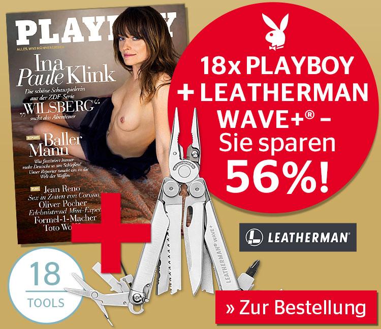 [Playboy] Leatherman Wave + als Prämie für 18 Monate Abo
