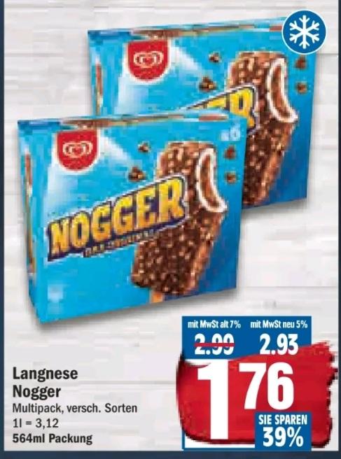 [NP Discount 29.06. - 04.07.] Langnese Nogger Multipack für 1,49 € durch reebate möglich