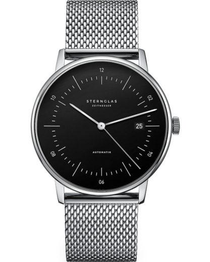 Automatik Uhr Sternglas NAOS Bauhaus Stil Milanaise Armband