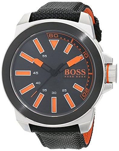 Hugo Boss Orange New York Herren-Armbanduhr Quartz mit Textil Armband 1513116