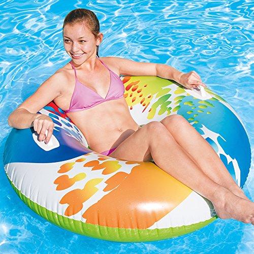 Intex - Schwimmreifen Color mit Griff für 6,49€ (Amazon Prime)