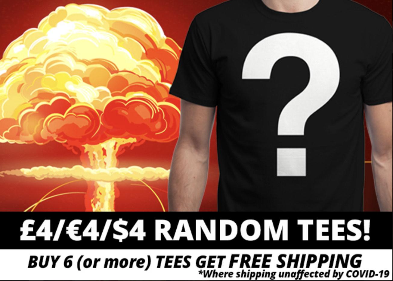 [QWERTEE] Random Shirts 4€ ab 6 Shirts versandkostenfrei