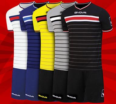 """Givova Fußball-Set """"Skill"""" (Trikot mit Shorts, Größe M - XL, 5 Farben verfügbar) für 7,77€ + 3,95€ VSK [SportSpar]"""