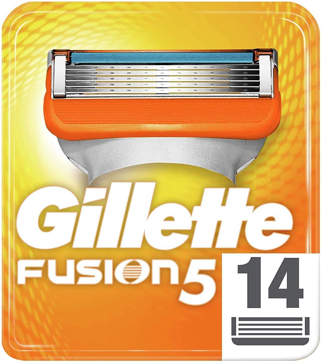 Gillette Fusion5 Rasierklingen für Männer, 14 Stück (1,35/ Stück) [Sparabo]