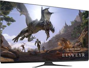 """Dell Alienware AW5520QF 55"""" OLED Gaming Monitor (4K, 3840 x 2160, AMD Free-Sync, Nvidia G-Sync comp., HDMI, DisplayPort, 120 Hz, 0,5 ms)"""