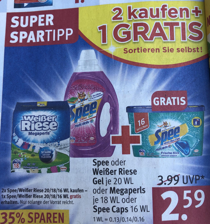 Rossmann - 3 für 2 Weißer Riese Megaperls = 0,08 Cent pro WL Waschmittel