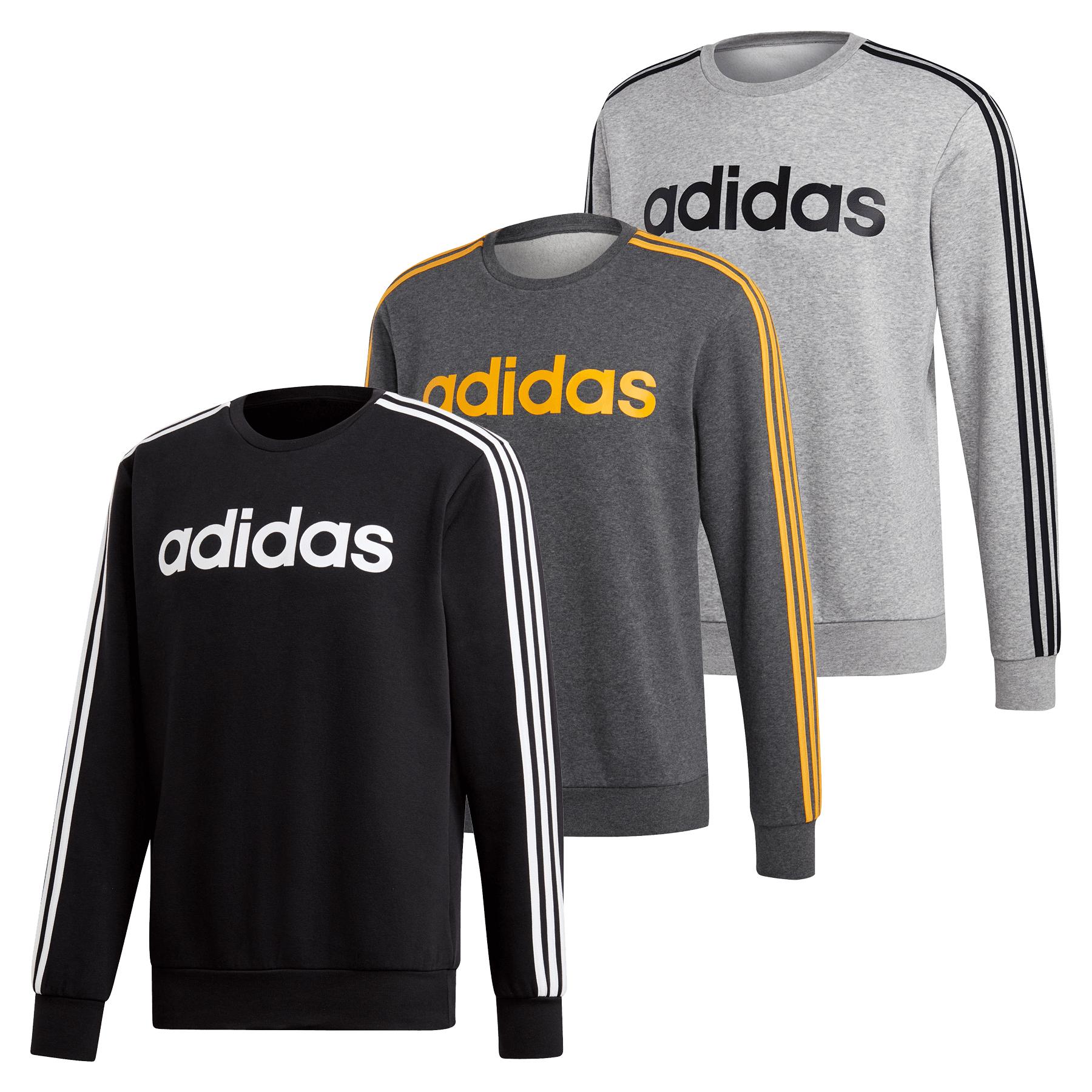 adidas Essentials 3 Stripes Sweatshirt (Größen S bis XXL)
