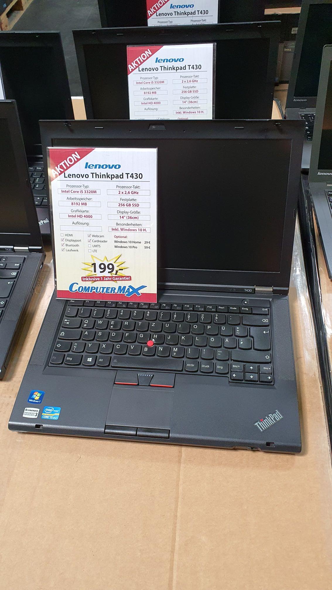 ComputerMax Weiterstadt - Lenovo T430 i5 8GB RAM 256GB SSD Generalüberholt mit Garantie