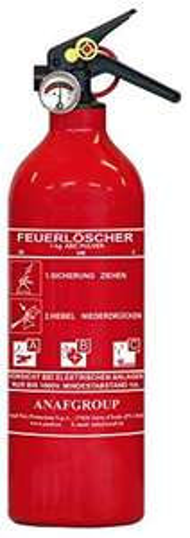 AnafGroup ABC Feuerlöscher 1KG (Pulver) inkl. KFZ Halterung [Penny]