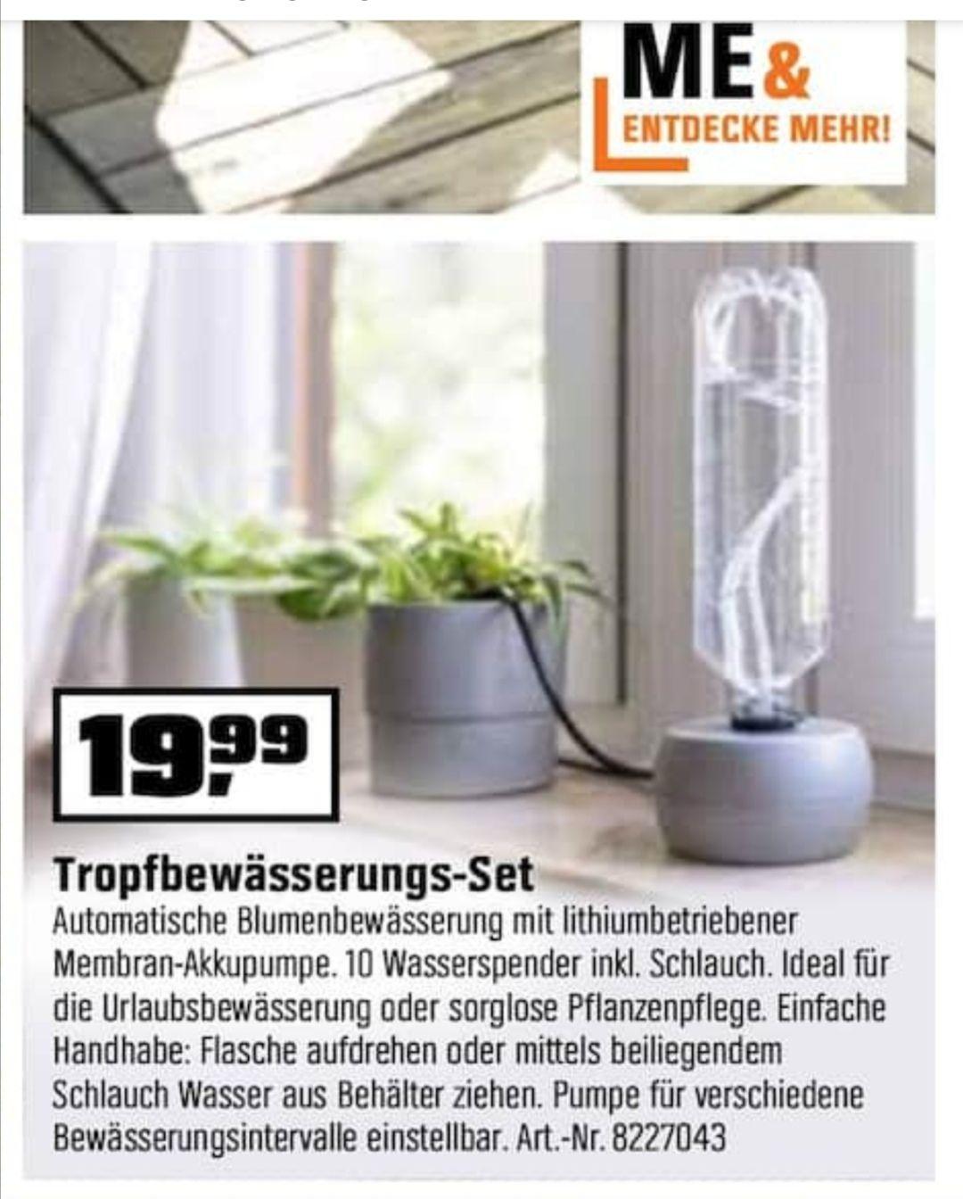 (offline) OBI: LUX Tropfbewässerungsset mit Pumpe