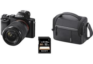 SONY Alpha 7 Kit (ILCE-7KB) Systemkamera + Tasche + Speicherkarte 24.3 Megapixel mit Objektiv 28-70 mm f/5.6