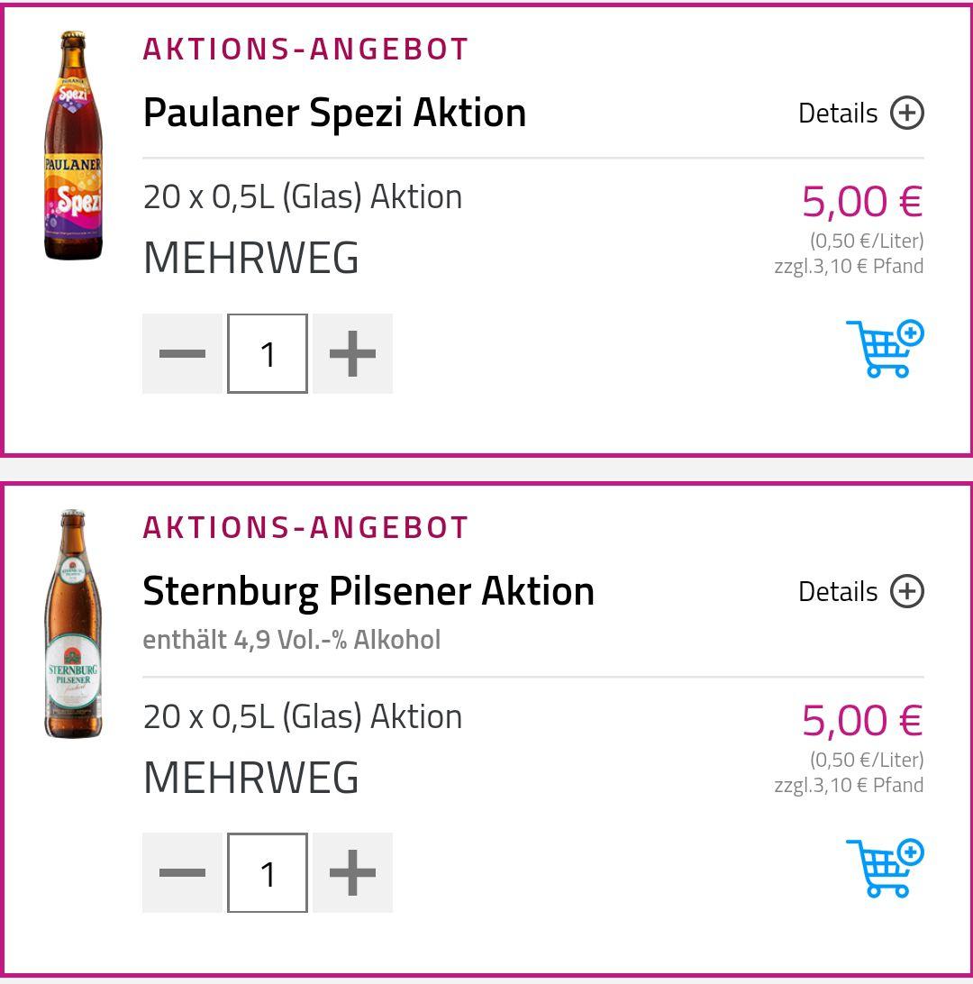 [Lokal Berlin] Kiste Augustiner Hell + Kiste Paulaner Spezi + Kiste Sternburg Pils inkl. Lieferung in 120 Minuten