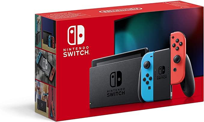 Nintendo Switch Konsole rot/blau für 288,68€ inkl. Versandkosten
