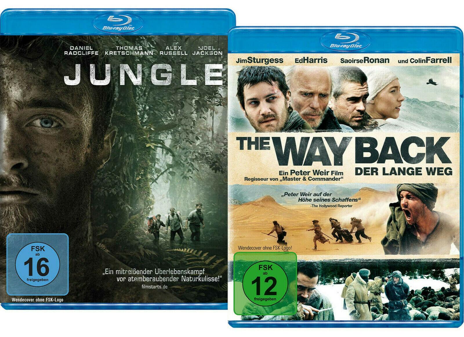 Jungle + The Way Back - Der lange Weg (Double Feature Blu-ray) für 6,90€ versandkostenfrei (Saturn)