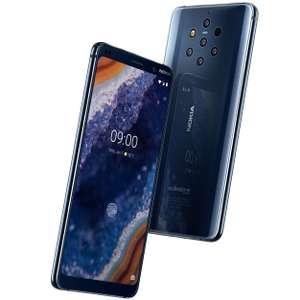 "Nokia 9 PureView 128/6GB (Snapdragon 845, 5.99"" WQHD+ OLED, 5x 12MP Kamera, NFC: Google Pay, QI Charging)"