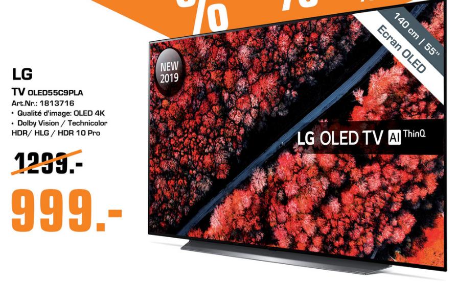 [Lokal Saturn Luxemburg] LG OLED TV 55C9PLA für 999€