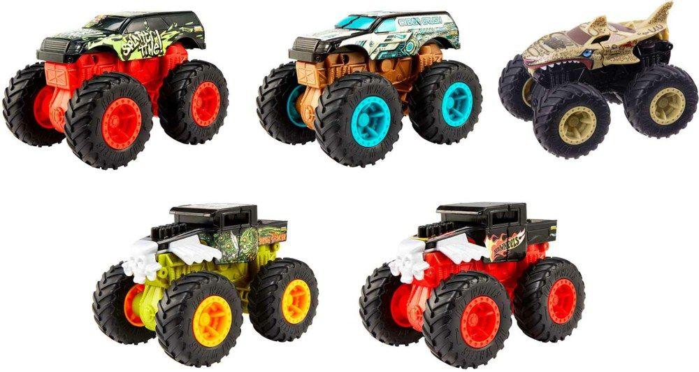 Hot Wheels Monster Trucks Bash Ups, 1 Monster Truck im Maßstab 1:43, versch. Ausführungen, Rofu
