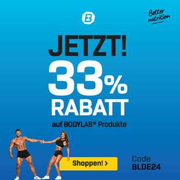 Bodylab24 33% auf alle Bodylab Produkte