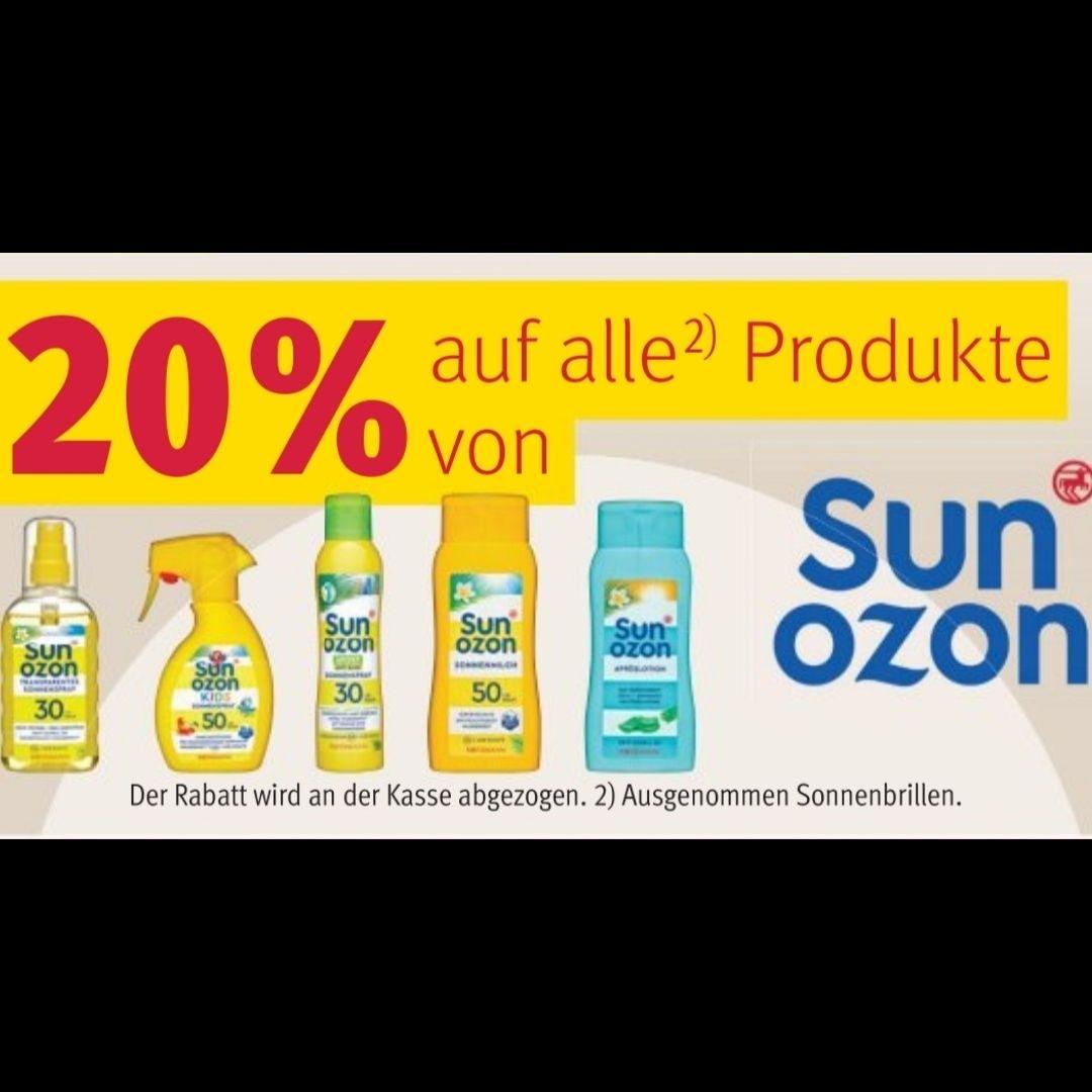 [Rossmann] 20% auf alle Produkte von sunozon 29.06. - 03.07.2020