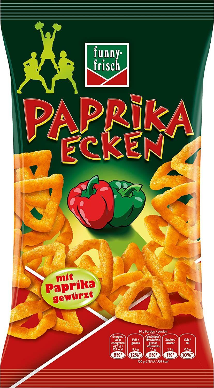funny-frisch Chips Paprika Ecken, 14er Pack (14 x 75 g) 0,74€ pro Pack. - Prime *Sparabo*