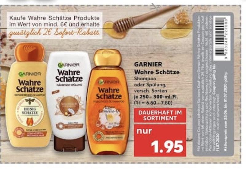 *Kaufland* 2€ Sofortrabatt auf Garnier Wahre Schätze