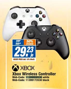 [Expert Technikmarkt Filialen] Xbox Wireless Controller (Schwarz / Weiß)