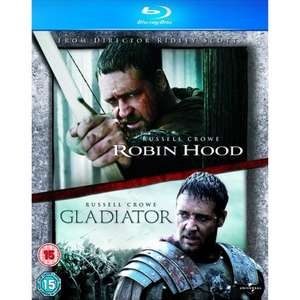 [amazon.co.uk] Russel Crowe Blu-Ray-Doppelpack Gladiator / Robin Hood