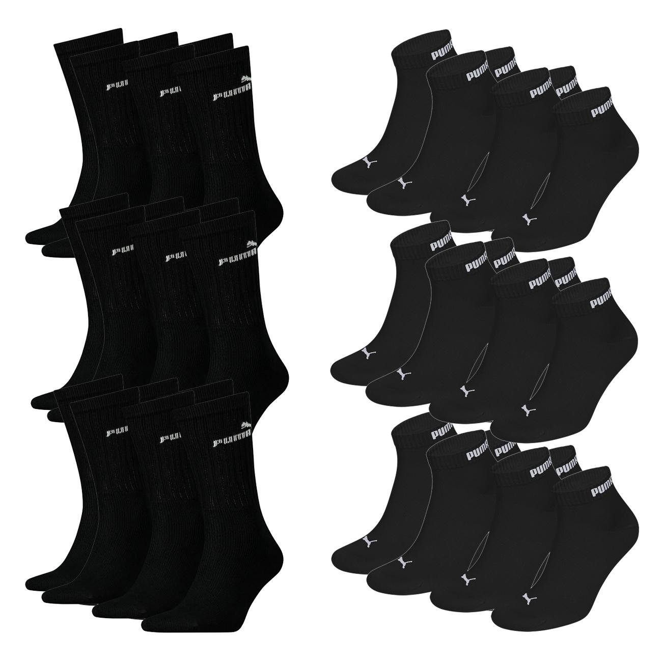 Set aus 9 Puma Classic Sport Socken + 9 PUMA unisex Quarter Clyde + 1 Paar Puma Socken Gratis