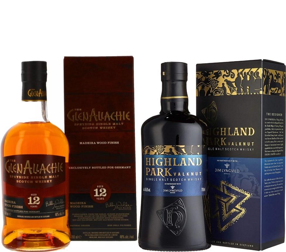 Whisky-Übersicht #34: z.B. Glenallachie 12 Jahre Madeira Wood Finish für 53,90€, Highland Park Valknut Single Malt für 50,90€ inkl. Versand