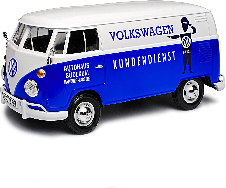 """Motormax VW T1 (Typ 2) Lieferwagen, """"Volkswagen Kundendienst - Autohaus Södekum Hamburg-Harburg"""" im Maßstab 1:24 für 12€ (Müller Abholung)"""
