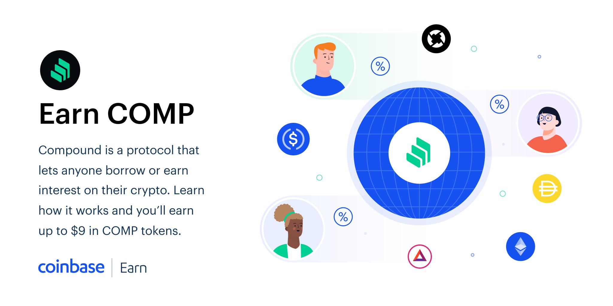 [Coinbase Earn] Compound (COMP) Kryptowährung im Wert von 9$ verdienen