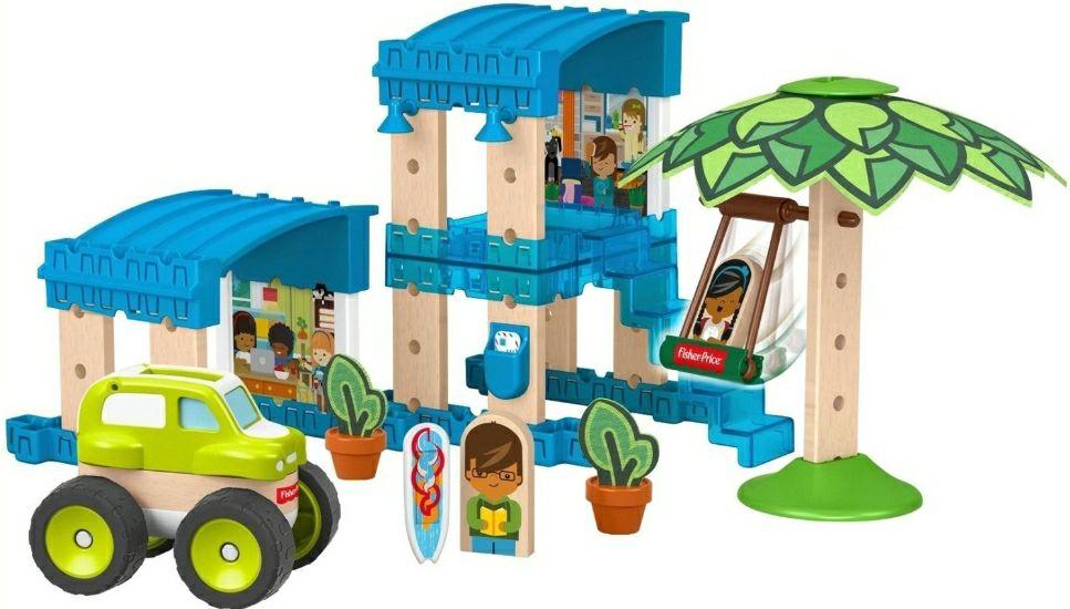 Fisher-Price Wunder Werker Holzspielzeug Strandbungalow