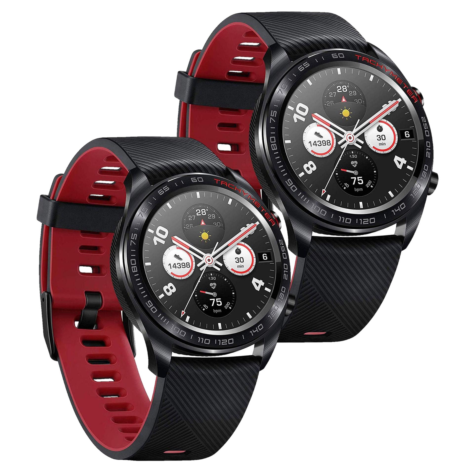 "Doppelpack: Honor Watch Magic (1.2"" Amoled Display, GPS/Glonass, Herzfrequenzmessung, 5ATM Wasserdicht)"