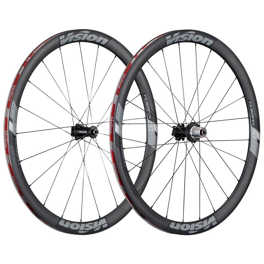 Fahrrad Vision TriMax Carbon/Alu 40 Disc Laufradsatz (Drahtreifen/1750g) - 2019