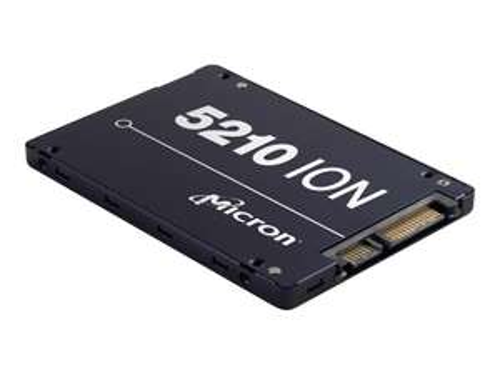 "[ejoker via real] Micron 5210 ION, SSD, 3.84 TB, 2,5"", Lesen: 540 MB/s, Schreiben 350 MB/s, 3D-NAND QLC, TBW:5,6 PB, 5 Jahre Garantie"
