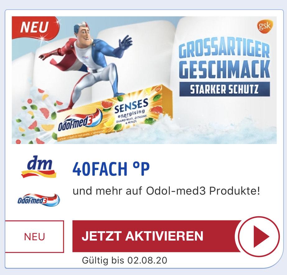 [40fach Payback] personalisierte Payback Aktion für Odol Med 3 Produkte