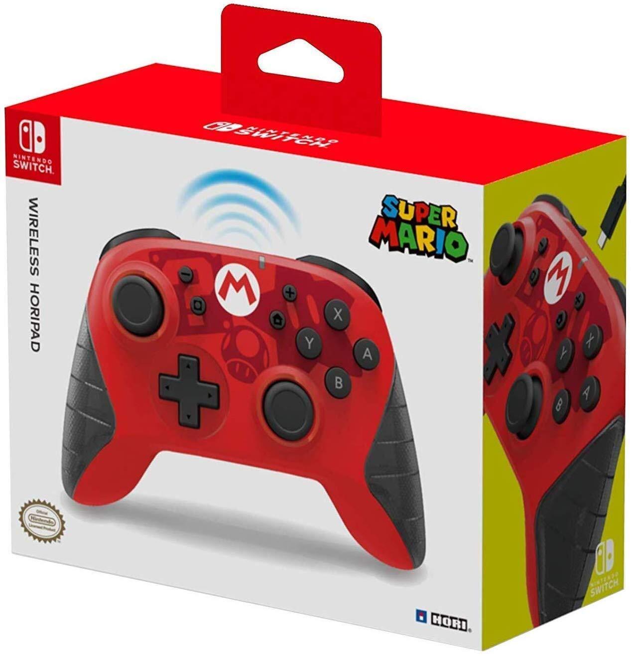 Hori Wireless Horipad für Nintendo Switch - Super Mario (BT, USB-C, ~15h Akku, inkl. Beschleunigungs-/Bewegungssensor, ohne Vibration & NFC)