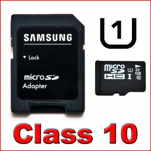 MicroSD Karte32 GB  CLASS 10 mit Samsung UHS-I Chips Versandkostenfrei