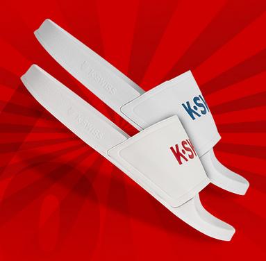 """K-Swiss Unisex Badelatschen """"K-Slide"""" für 8,88€ + 3,95€ VSK (Größe 35.5 - 47) [SportSpar]"""