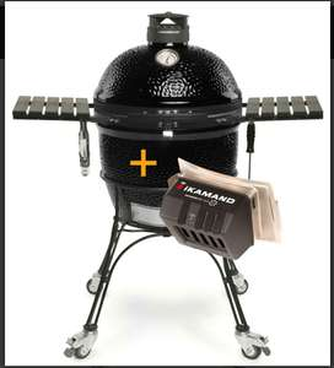Kamado Joe Classic II Keramikgrill Black - limited Edition & IKamand Temperatursteuerungsgerät