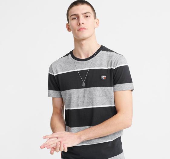 Superdry 'Collective' T-Shirt aus Biobaumwolle mit Streifen (Gr. XS-4XL)