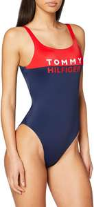 Tommy Hilfiger Colour-Blocked One-Piece Swimsuit Red glare (XS - L) [Amazon]