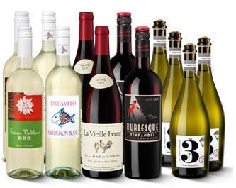 Wein Paket New Year (12 Flaschen) bei ninetyninebottles für 45 Euro