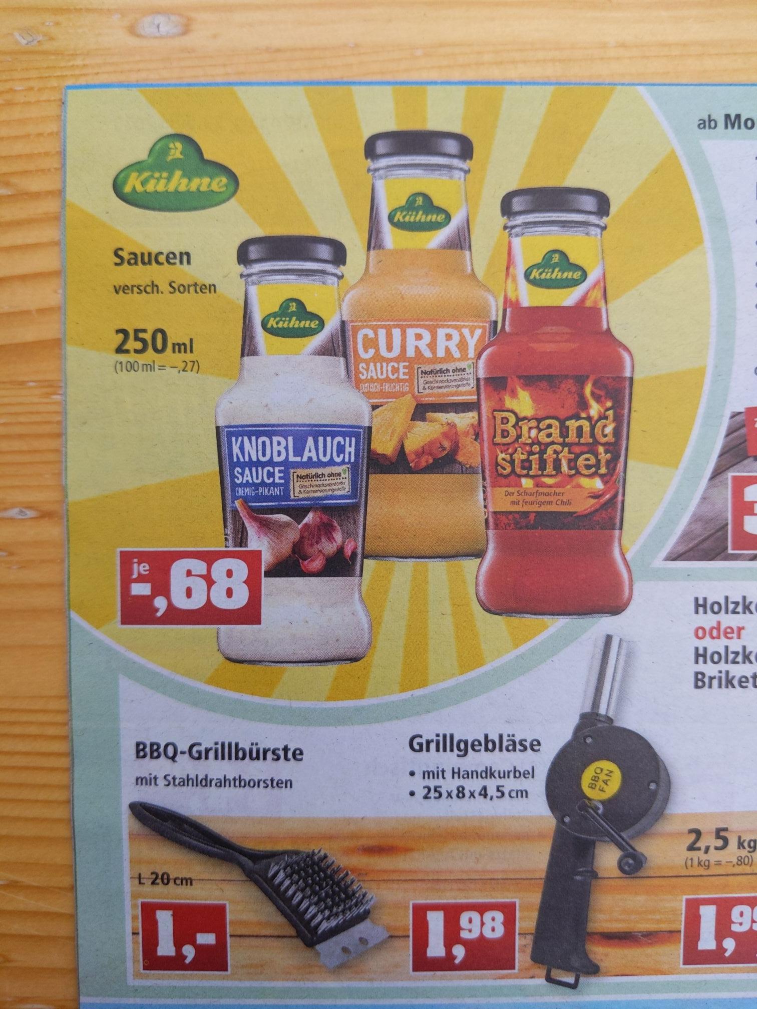 Grillsaucen Kühne - Curry, Knoblauch, etc. Thomas Philipps - wo sonst ;)