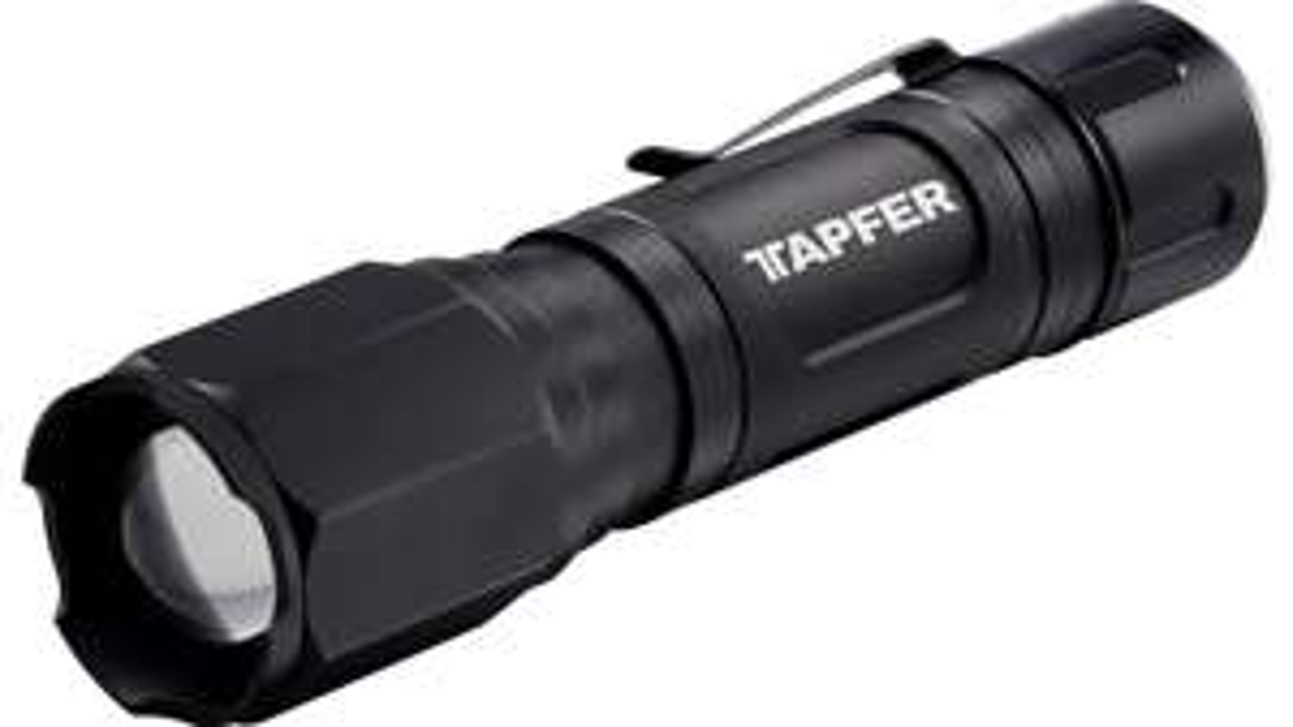 Tapfer 5004LTF Taschenlampe (245/1440 Lumen, bis 200m Leuchtweite, 3 Strahlungsarten, Betrieb per 6x AA, Alugehäuse, IP44)