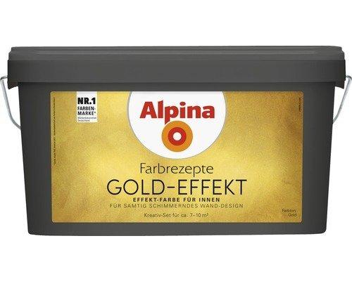 Wandfarbe Alpina Effektfarbe Gold-Effekt 3 Liter