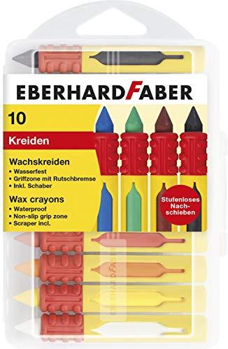 Eberhard Faber Wachsmalkreiden wasserfest, mit Schiebehülse & Rutschbremse 10er Box für 2,91€ (Amazon Prime & Müller Abholung)