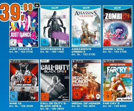 Neuer Saturnprosekt und Amazon zieht mit einigen neuen Videogames für 39,99€ zb. ZombiU