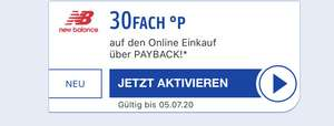 [New Balance] 30fach/40fach Payback Coupon (personalisiert)